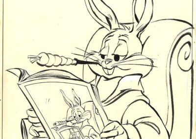 Bugs Bunny Reading The Papper Sketch
