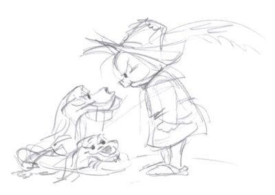 Charlie Dog & Porky Pig Sketch