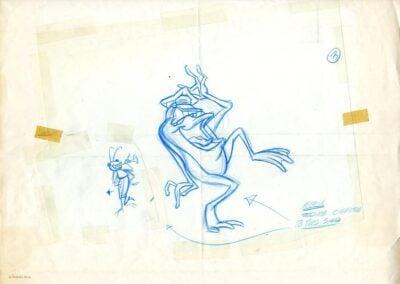 Michigan J Frog Concept Sketch