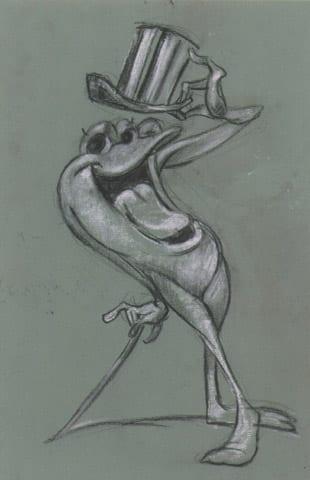 Michigan J Frog Original Sketch