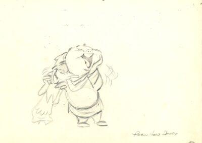 Porky Pig & Daffy Duck Sketch