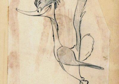 Road Runner #1092 Chuck Jones Sketch