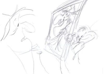 Witch Hazel & Bugs Bunny Original Sketch