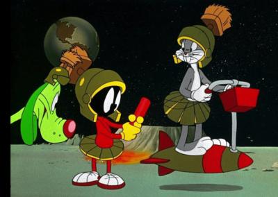 Marvin Martian Dare Devil Hare
