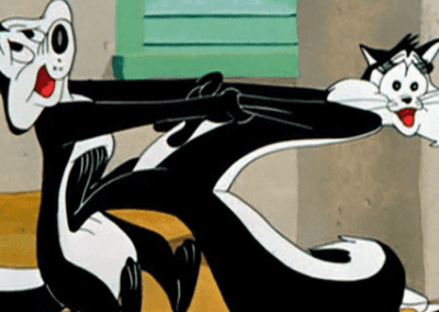 Pepe Le Pew Holding Cat