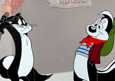 Pepe Le Pew About To Get Hit With A Club