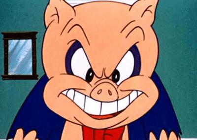 Porky Pig Evil Smile