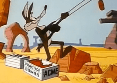 Wile E Coyote Fishing With Dyno Mite