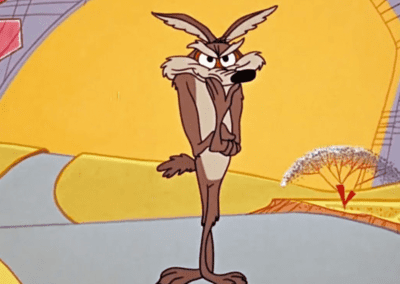 Wile E Coyote Crooked Smile