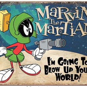 Marvin the Martian Tin Sign