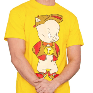 Porky Pig Hip Front and Back T-Shirt