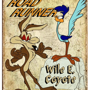 Road Runner & Wile E Coyote Tin Sign