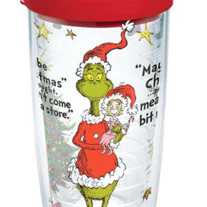 The Grinch Christmas Quote Travel Coffee Tumbler