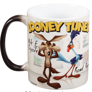 Wile E Coyote and Road Runner Color-Changing Coffee Mug