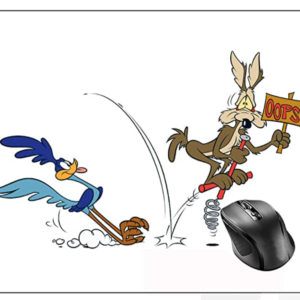Wile E Coyote and Road Runner Mouse Pad